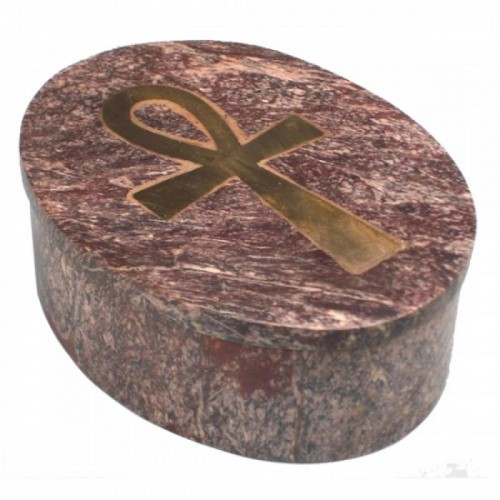 "Каменна кутия за бижута ""Анкх"""