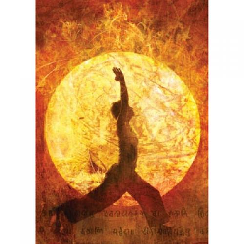 """Поздравителна картичка """"Yoga"""""""