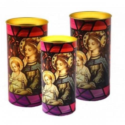 """Свещ с уникален светлинен ефект - """"Мария и Иисус"""""""