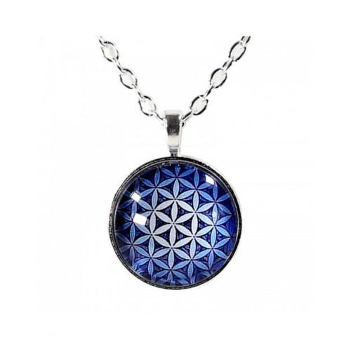 """Огърлица-медальон """"Цветето на живота"""""""
