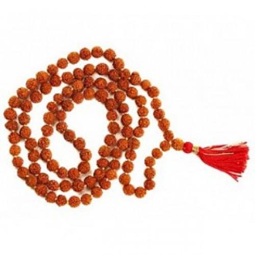 Будистка мала молитвена броеница от натурална рудракша, 12 мм
