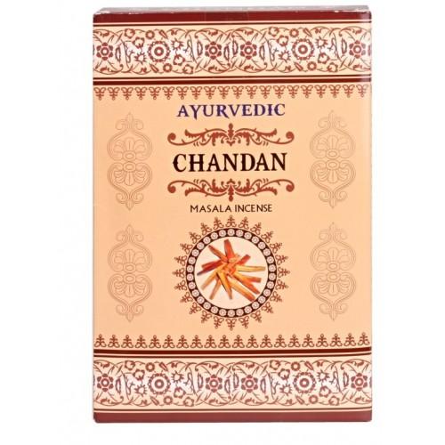 """Аюрведични ароматни пръчици """"Chandan"""" (индийски сандал) - Масала 10 гр."""