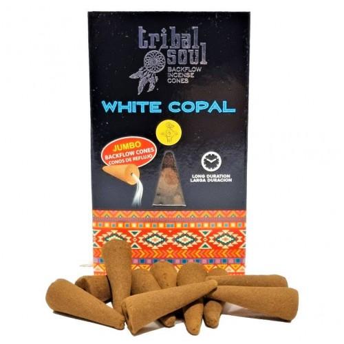 Ароматни конуси с течен дим Бял копал Copal blanco Tribal Soul, 10 бр.