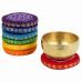 Възглавничка с чакра мотив - поставка за тибетска пееща купа, голяма